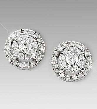 1/2cttw Diamond 14kt White Gold Earrings