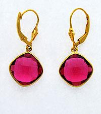 Pink Quartz Dangle Earrings