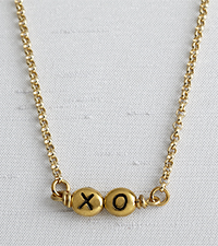 XO Hugs & Kisses Bead Necklace