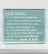 Personalized Soul Mate Glass Block