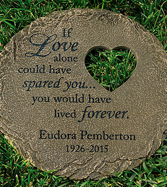 Personal Creations® Personalized Memorial Heart Cut-out Stepping Stone