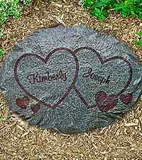 Personal Creations® Personalized Two Hearts Garden Stone