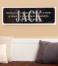 Personal Creations® Personalized Achieve Your Destiny Motivational Sign