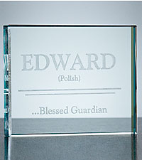Personalized Meant for Greatness Name Interpretation Glass Block