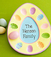 Personalized Colorful Ceramic Egg Platter