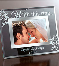 Personal Creations® Personalized With This Ring Glass Frame