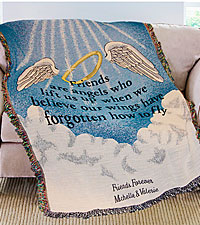 Personal Creations® Personalized Friends Are Angels Throw
