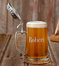 Personal Creations® Personalized Pewter Topped Beer Stein