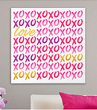Personal Creations® Personalized XOXO Hug & Kisses Valentine Canvas