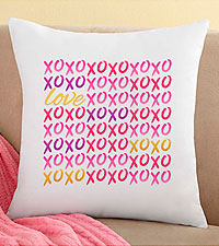 Personal Creations® Personalized XOXO Hug & Kisses Valentine Pillow