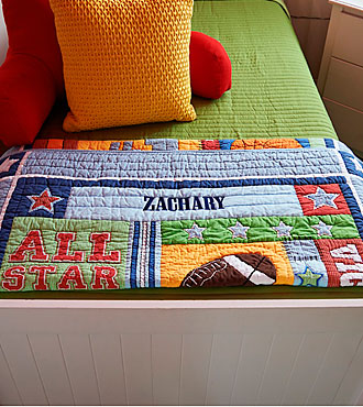 Personal Creations® Baby Quilt - Sports