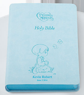 Personal Creations® Precious Moments Holy Bible-Blue