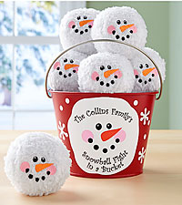 Personal Creations® Snowball Fight in a Bucket
