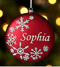Personal Creations® Birthstone Snowflake Ornamnet - January