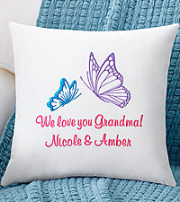 Personal Creations® Butterfly Embroidered Throw Pillow