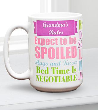 Personal Creations® Grandma Rules Mug
