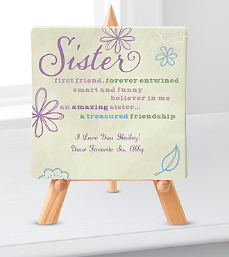 Personal Creations® Promises Relationship Canvas-Sister