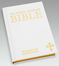 Personal Creations® Catholic Children's Bible-White