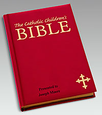 Personal Creations® Catholic Children's Bible-Burgundy