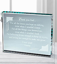 Personal Creations® Thank You Dad Glass Paperweight 1 Child