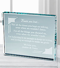 Personal Creations® Thank You Dad Glass Paperweight Multiple Children