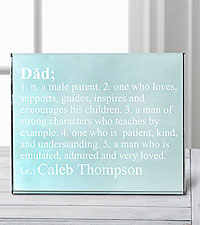Personal Creations® Define Him Glass Block - Dad