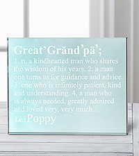 Personal Creations® Define Him Glass Block - Great Grandpa