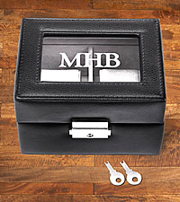 Personal Creations® 2 Slot Leather Watch Box - Monogram