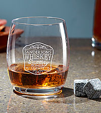 Personal Creations® On the Rocks Whiskey Stone Glass Set
