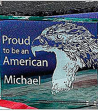 Personal Creations® Proud to Be An American Glass Paperweight