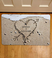 Personal Creations® Heart in Sand Doormat-17x27