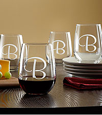 Personal Creations® Stemless Wine Glasses (set of 4)