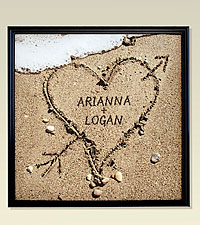 Personal Creations® Heart in Sand 16x16 Framed Canvas