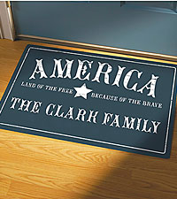 Personal Creations® Because of the Brave Doormat