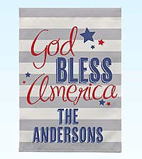 Personal Creations® God Bless America Garden Flag