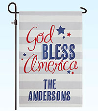 Personal Creations® God Bless America Garden Flag with Stake