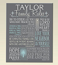 Personal Creations® Rules of Faith Canvas - Gray - 11x14