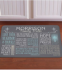 Personal Creations® Rules of Faith 17x27 Doormat - Gray