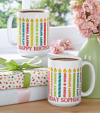 Personal Creations® Light The Candles Birthday Mug