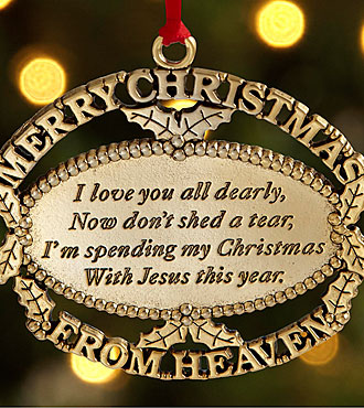 hallmark merry christmas in heaven gift