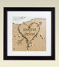 Personal Creations® Heart in Sand Framed Print