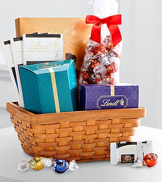Lindt Favorites Chocolate Gift Basket - Good