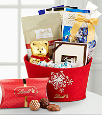 Lindt Favorites Holiday Gift Baskets