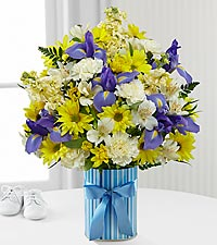 The FTD® Little Miracle™ Bouquet - Boy - VASE INCLUDED