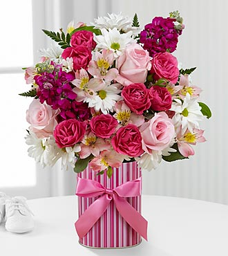 The FTD® Little Miracle™ Bouquet - Girl - VASE INCLUDED