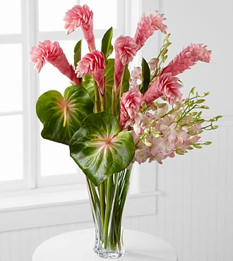 Alluring Luxury Orchid & Ginger Bouquet - 26 Stems - VASE INCLUDED