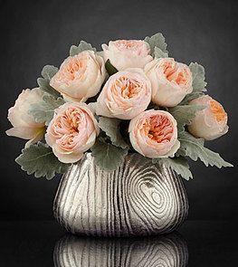 Woodland Beauty Luxury Rose Bouquet by Interflora® - 8 Stems - VASE INCLUDED