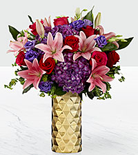 Love Shine Valentine's Day Luxury Bouquet - VASE INCLUDED