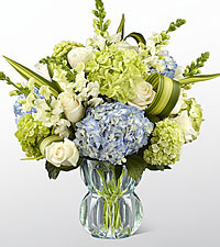 The FTD® Superior Sights™ Luxury Bouquet - Blue & White