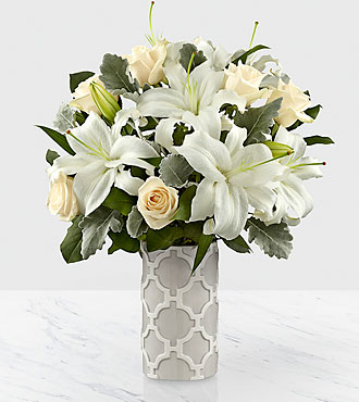 The FTD® Pure Opulence™ Luxury Bouquet  - VASE INCLUDED